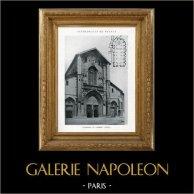 Domkyrka - Katedralen i Chambéry (Savojen - Frankrike) | Original heliotype. Anonymt. 1926