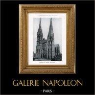 Cathédrale de Chartres (Eure-et-Loir - France) | Héliotypie originale. Anonyme. 1926