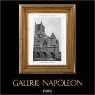 Cathédrale de Meaux (Seine-et-Marne - France) | Héliotypie originale. Anonyme. 1926
