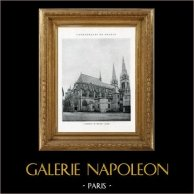 Cathédrale de Moulins (Allier - France) | Héliotypie originale. Anonyme. 1926