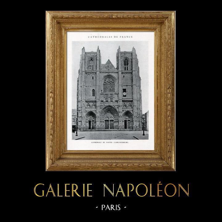 Gravures Anciennes & Dessins   Cathédrale de Nantes (Loire - France)   Héliotypie   1926