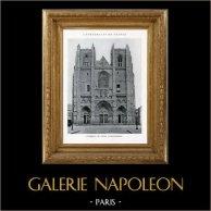 Domkirche - Kathedrale von Nantes (Loire - Frankreich) | Original heliotypie. Anonyme. 1926