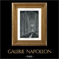 Catedral de Nantes - Interior (Loira - Francia) | Originale heliotipia. Anónima. 1926