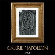 Cathédrale Notre-Dame de Paris - Rose du Transept Sud (France)   Héliotypie originale. Anonyme. 1926