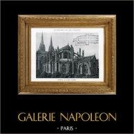 Catedral de Quimper (Finistère - França) | Heliotipia original. Anónima. 1926