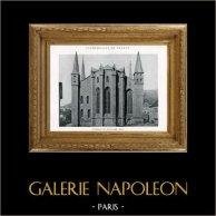 Domkirche - Kathedrale von Saint-Claude (Jura - Frankreich) | Original heliotypie. Anonyme. 1926