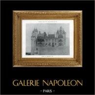 Desenho de Arquitecto - Monumento Histórico - Castelo de Pierrefonds (Oise - França)