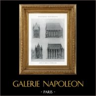 Dibujo de Arquitecto - Monumento Histórico - Capilla - Castillo de Vincennes (Francia)