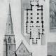DÉTAILS 03   Dessin d'Architecte - Monument Historique - Eglise Saint Serges de Angers (Maine-et-Loire - France)