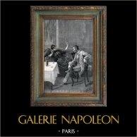 París - Escena de Género - Escena de la Vida Cotidiana en el Siglo XIX | Grabado en madera (xilografía). 1887