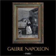Paris - Genre Scene - Scene of Everyday Life in the 19th Century