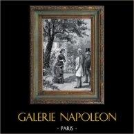 Scène de Genre - Scène de la Vie Courante à Paris au XIXème Siècle