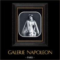 Daguerréotype érotique Français - Nu Féminin - La Princesse | Héliogravure originale d'après un daguerréotype érotique réalisé en 1880. 1930