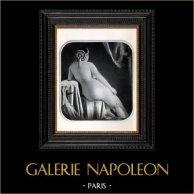 Daguerréotype érotique Français - Nu Féminin - Angelle | Héliogravure originale d'après un daguerréotype érotique réalisé en 1880. 1930