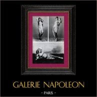French Erotic Daguerreotype - Female Nude - The Dancers - Mademoiselle Frager of the Elysée-Palace - La Tour-Eiffel - Sarah Brown of the Quart'z' Arts