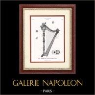 Instrument de Musique - Harpe - Vienne (W. Wollanek)