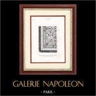 Vieux Tapis Allemand reproduit par Charles Giani (Vienne)   Typogravure originale. Anonyme. 1877