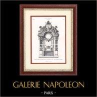 Paris - Taquilla en el grande Vestibolo del Nuevo Ópera de París (Charles Garnier)   Original typogravure. Anónimo. 1877