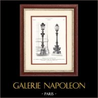 Paris - Candelabros de Bronze de Ópera Garnier (Charles Garnier)