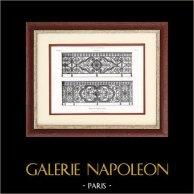 Paris - Varandas del Palácio das Tulherias - Comunicada por Paul Fauré Arquiteto   Typogravure original. Anónima. 1877