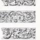 DÉTAILS 01   Ornements de Panneaux des Stalles du Choeur de l'Eglise S. Severino à Naples