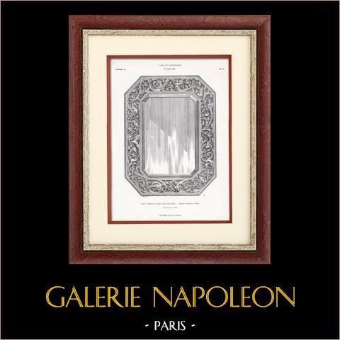 Spiegel aus Silber - Maison Boucheron (Paris) | Original typogravure. Anonyme. 1877