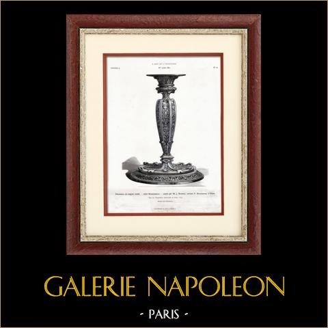 Srebrny świecznik - Renesans - j. Brateau - Boucheron (Paris) |