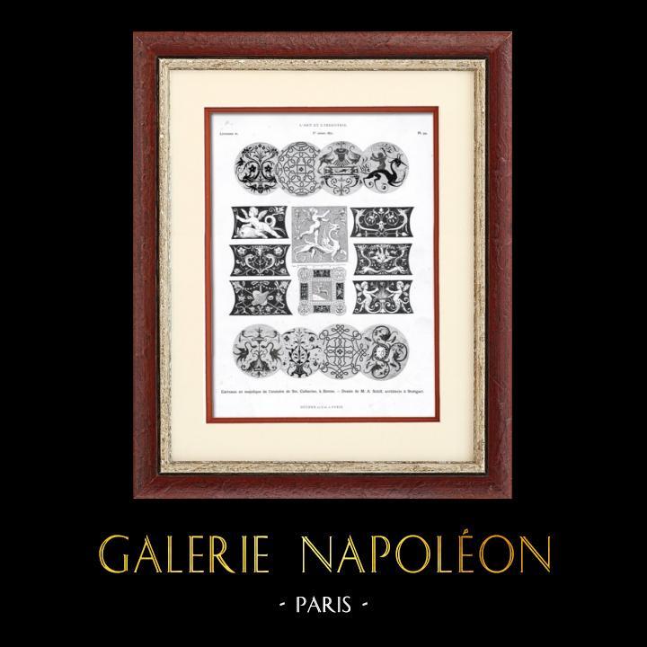 Antique Prints & Drawings | Maiolica Tiles | Typogravure | 1877