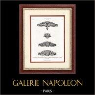 Ferrures en Acier avec Ornements Gravés à l'Eau Forte - Composition de M. Lancelot (Paris) - Exécution de M. Théron