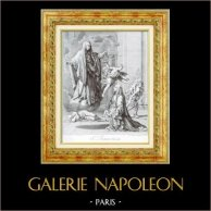 Religiosa - Saint Frances of Rome Announcing the End of the Plague in Rome (Louvre Museum - Nicolas Poussin)
