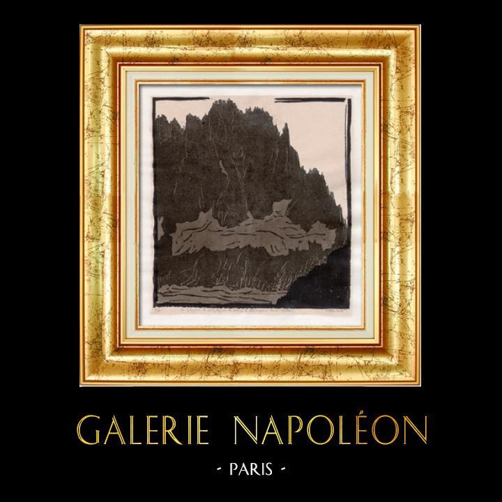 Gravures Anciennes & Dessins | Suisse - Montagne - Le Gréppon | Lithographie | 1928