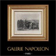 Revolución Francesa - Carrier à Nantes (1794) - Verdugo de Nantes - Guerra de Vandea - Guillotina | Original acero grabado dibujado por Raffet, grabado por A. Garnier. Chine collé. 1834