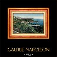 Francia - Costa Azzurra - Côte d'Azur - Provenza - Principato di Monaco - Casinò di Monte Carlo - Beach Casino e Le Cap-Martin | Eliocromia originale. Anonima. 1928