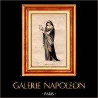 Theater Clothing - French Stage Costume - Tragedy - Ancient Rome - Cornelia - The Death of Pompey - La Mort de Pompée (Pierre Corneille)