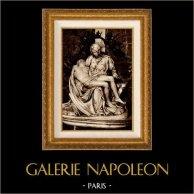 Vue de Rome - Italie - La Pietà Vaticana - Statue en Marbre de Michel-Ange - Basilique Saint Pierre - Cité du Vatican