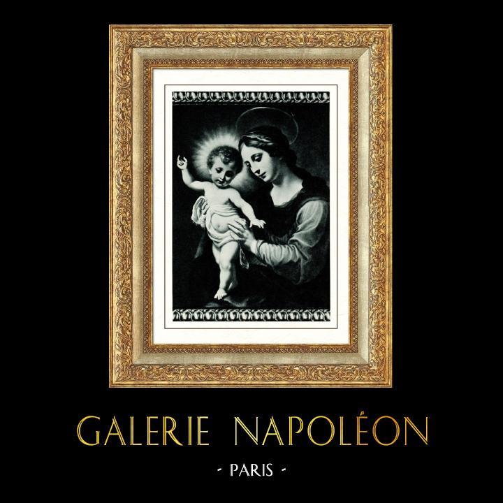 Gravures Anciennes & Dessins   Galerie Borghèse - Madone - La Vierge avec L'Enfant Jésus (Carlo Dolci)   Héliogravure   1936