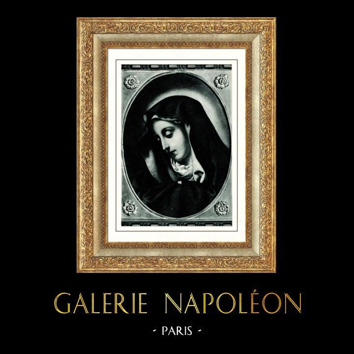 Gravures Anciennes & Dessins   Galerie Borghèse - Vierge Marie - Madone dite du Doigt - Madonna detta del Dito (Carlo Dolci)   Héliogravure   1936