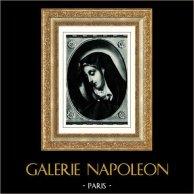 Galería Borghese - Santísima Virgen María - Madonna detta del Dito  (Carlo Dolci) | Original heliograbado. Anónimo. 1936