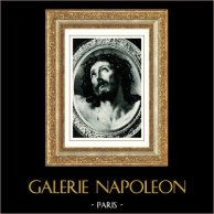 Ecce Homo di Guido Reni - Crocifissione di Gesù - Cristo sulla Croce | Heliogravure originale secondo Guido Reni. Anonima. 1936