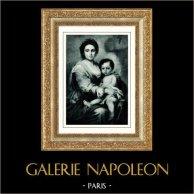 Galleria Corsini - Madonna with Child Jesus (Bartolomé Esteban Murillo) | Original heliogravure after Bartolomé-Esteban Murillo. Anonymous. 1936