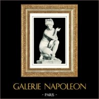 Vatikanmuseerna - Gabinetto delle Maschere - Staty - Venus Afrodite Accovacciata - Romersk och Grekisk Mytologi