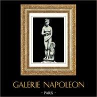 Museos Vaticanos - Estatua por Praxíteles - Afrodita Venus Capitolina - Mitología Romana y Griega
