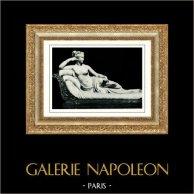 Villa Umberto I - Escultura - Paulina Bonaparte Borghese : Hermana de Napoleón - Venus - Venere Vincitrice (Antonio Canova) | Original heliograbado. Anónimo. 1936