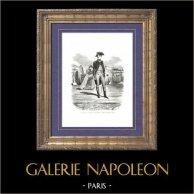 Historia av Napoleon Bonaparte - Bonaparte i Artielleriregementet La Fère - Du Teil | Original trästick efter teckningar av A. Raffet, graverade av Thompson. [tiré à part]. 1839