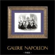 História de Napoleão Bonaparte - Campanha de Egipto (1798) | Gravura em madeira original (xilogravura) desenhada por A. Raffet, gravada por Cherrier. [tiré à part]. 1839