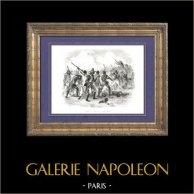 History of Napoleon Bonaparte - Haitian Revolution - Crête-à-Pierrot | Original wood engraving drawn by A. Raffet, engraved by Hébert. [tiré à part]. 1839