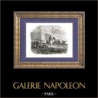 Geschichte von Napoleon Bonaparte - Napoleonische Kriege - Koalitionskriege - Zusammenkunft von Napoleon und des Zaren Alexander I aus Russland auf dem Fluss Memel (1807)