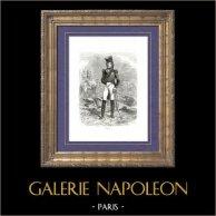 Histoire de Napoléon Bonaparte - Portrait de Masséna (1755-1817) - Duc de Rivoli et Prince d'Essling | Gravure sur bois originale dessinée par A. Raffet, gravée par V. Loutrel. [tiré à part]. 1839