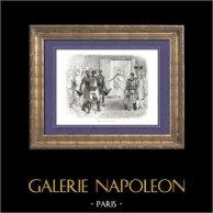 Storia di Napoleone Bonaparte - Napoleone II Re di Roma  - Figlio di Napoleone Bonaparte e di Maria Luisa d'Asburgo-Lorena | Incisione xilografica originale disegnata da A. Raffet. [tiré à part]. 1839