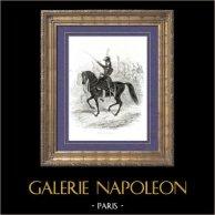 Histoire de Napoléon Bonaparte - Portrait de Murat Roi de Naples (1771-1815) - Maréchal d'Empire | Gravure sur bois originale dessinée par A. Raffet, gravée par Hébert. [tiré à part]. 1839